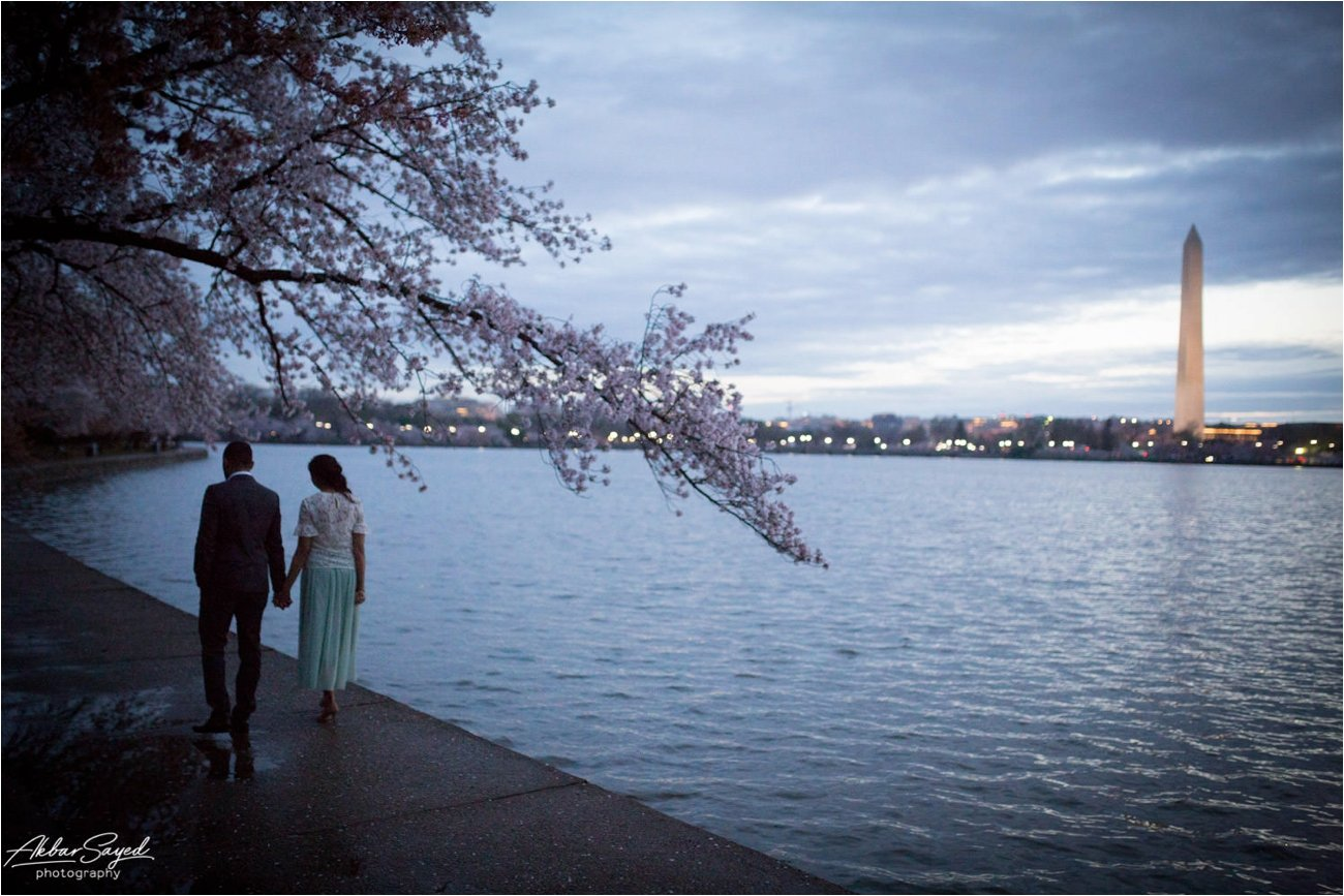 Tidal Basin Washington DC Engagement, Akbar Sayed Photography