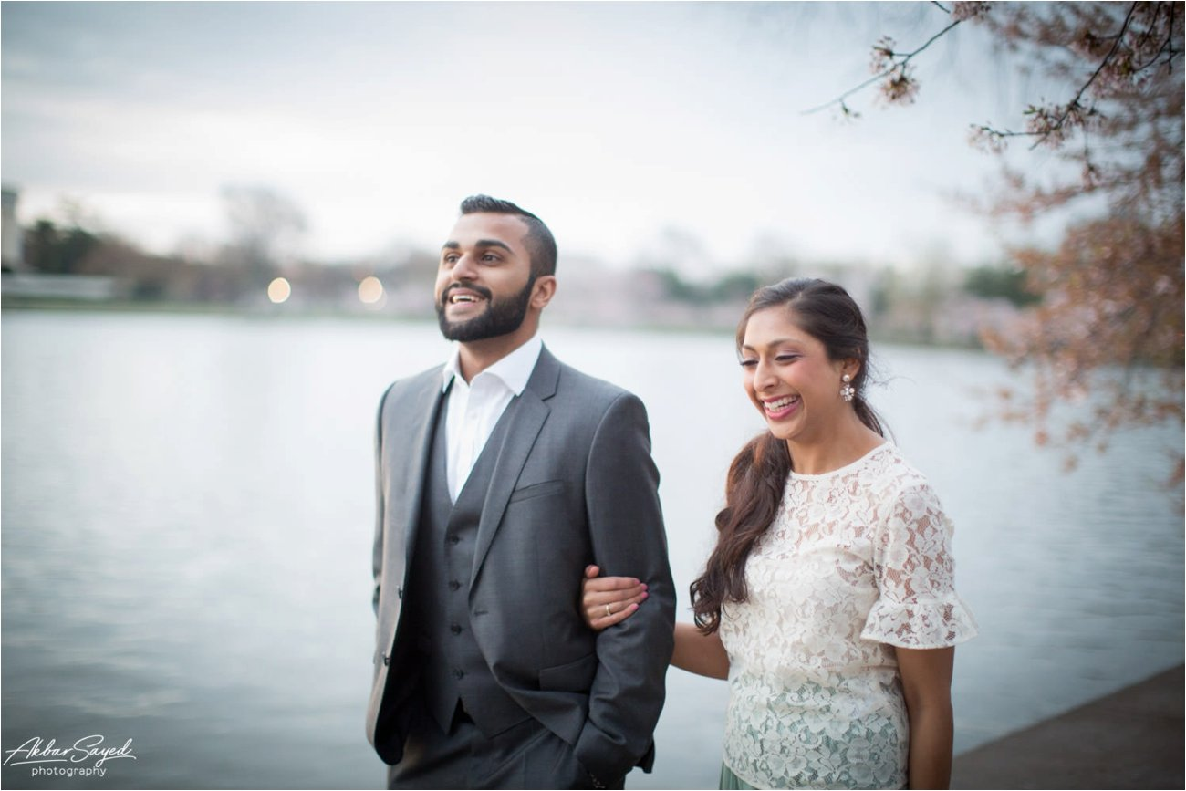 Tidal Basin, Washington DC Engagement, Akbar Sayed Photography
