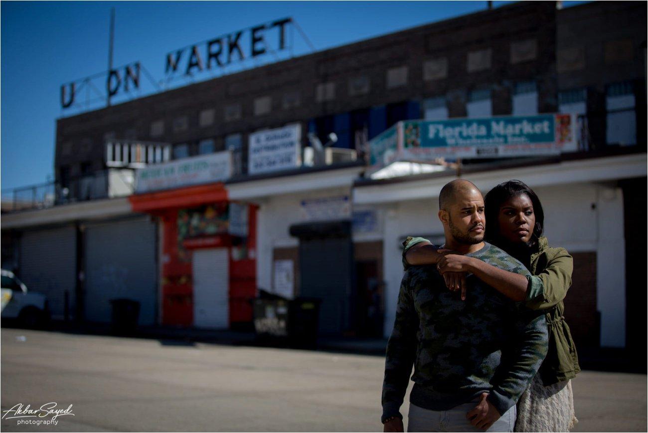 Union Market Washington DC Engagement Akbar Sayed Photography
